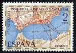 Stamps Spain -  2001- Centenario del Instituto Geográfico y Catastral.