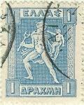 Sellos de Europa - Grecia -  Hermes
