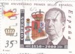 Sellos de Europa - España -  150 Aniversario Primer Sello Español   (S)