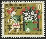 Stamps Germany -  WOHLFAHRT DER WOLF UND DIE - D. BUNDESPOST