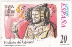 Stamps Spain -  Dama de Elche-HISTORIA DE ESPAÑA II    (S)