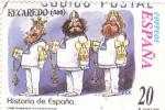 Sellos de Europa - España -  Recaredo- HISTORIA DE ESPAÑA II    (S)