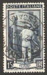 Stamps : Europe : Italy :  579 - Carpintero (filigrana A)
