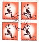 Sellos de Asia - Emiratos Árabes Unidos -  Futbol -Ajman