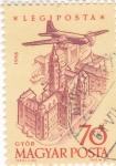 Stamps Hungary -  Avión sobrevolando- Gyór