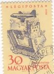 Stamps Hungary -  Avión sobrevolando- Sarospatak