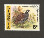 Stamps Liberia -  Ave Francolinus