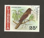 Stamps Liberia -  Ave Pycnonotus