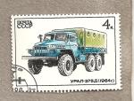 Stamps Russia -  Camión URAL-375