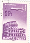 Sellos del Mundo : Europa : Hungría : Avión sobrevolando- Roma
