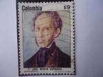 Sellos de America - Colombia -  José María Espinosa (1792-1883) - Centenario de su nacimiento - Autorretrato