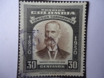Stamps of the world : Colombia :  MANUEL PONCE DE LEÓN - Comisión Corográfica