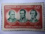 Sellos de America - Colombia -  1810-Independencia Nacional-1960