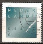 Sellos de Europa - Holanda -  Duelo sello. Luz a través de la oscuridad.
