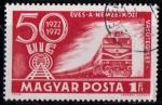 Sellos de Europa - Hungría -  50º aniv. Unión Internacional de Ferrocarriles