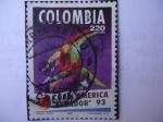 Sellos de America - Colombia -  Copa América  - Ecuador 93 - (Composición:Diego Toro)
