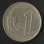 monedas de America - Uruguay -  UN NUEVO PESO ( FRONTAL)