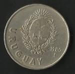 monedas de America - Uruguay -  UN NUEVO PESO ( POSTERIOR)