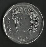 monedas de America - Brasil -  VEINTICINCO CENTAVOS BRASIL (POSTERIOR)