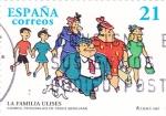 Stamps Spain -  LA FAMILIA ULISES-Personajes del Tebeo (T)