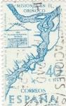 Stamps Spain -  PLANO DE LAS MISIONES DEL ORINOCO.Forjadores de América Venezuela  (T)