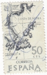 Stamps Spain -  COSTA DE MUTKA-Forjadores de América Costa de Mutka (T)
