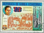 Stamps Equatorial Guinea -  75 ANIVERSARIO F.C. BARCELONA