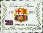 Stamps of the world : Equatorial Guinea :  75 ANIVERSARIO F.C. BARCELONA
