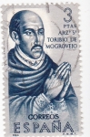 Stamps Spain -  SANTO TORIBIO DE MOGROVIEJO-