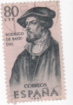 Stamps : Europe : Spain :  RODRIGO DE BASTIDAS-