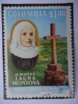 Stamps of the world : Colombia :  R.Madre Laura Montoya  -  Misionera1874-1974