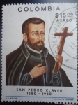 Stamps of the world : Colombia :  SAN PEDRO CLAVER 1580-1980