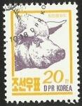 Sellos del Mundo : Asia : Corea_del_norte : ANIMALES DE GRANJA - CERDO