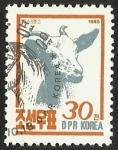 Sellos del Mundo : Asia : Corea_del_norte : ANIMALES DE GRANJA - CABRA