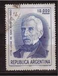 Stamps Argentina -  bicentenario de su nacimiento