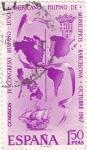 Stamps Spain -  IV Congreso Hispano- Luso-Americano-Filipino de Municipios Barcelona-Octubre 1967  (T)