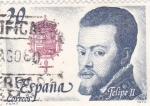 Sellos de Europa - España -  FELIPE II - Reyes de España. Casa de Borbón (T)