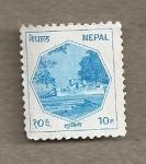 Stamps Nepal -  Construcción
