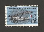 Sellos de America - Estados Unidos -  50 aniv. del servicio postal aéreo