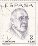 Stamps Spain -  CARLOS ARNICHES - Literatos Españoles (T)