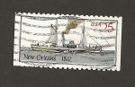 Stamps United States -  Barco Nueva Orleans 1812