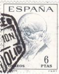 Sellos de Europa - España -  JACINTO BENAVENTE - Literatos Españoles (T)