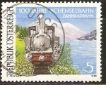 Stamps Austria -  CENTENARIO  DE  VIA  FERREA