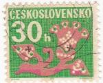 Sellos de Europa - Checoslovaquia -  Dibujos de Flores