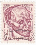 Stamps : Europe : Czechoslovakia :  R Rolland 1866-1944