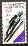 Sellos de Europa - Alemania -  XV.Juegos Olímpicos de Invierno(Calgary) 1988-DDR.
