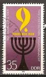 Sellos de Europa - Alemania -   50ª Aniv del pogrom fascista-DDR.