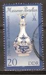 Sellos de Europa - Alemania -  Porcelana de Meissen-250 años del patrón cebolla-DDR.