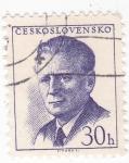 Sellos de Europa - Checoslovaquia -  Antonín Novotny - político