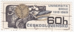 Sellos de Europa - Checoslovaquia -  Universidad de Brno 1919-1969, 50 aniversario